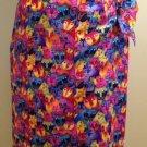 Feline Print Wrap Skirt