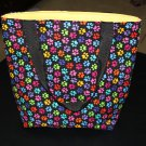 Multicolored Paw Print Handy Tote