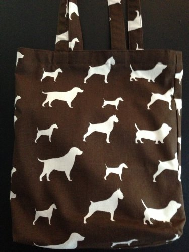 Brown Dog Print Deluxe Handy Tote