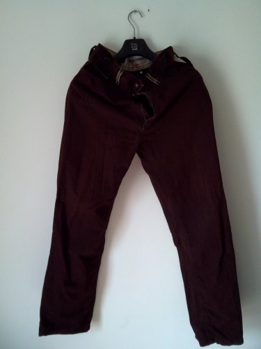 """slightly used"" FASHIONABLY DESIGNED MEN CHINOS (MEDIUM, RUSTY-BROWN) £49"