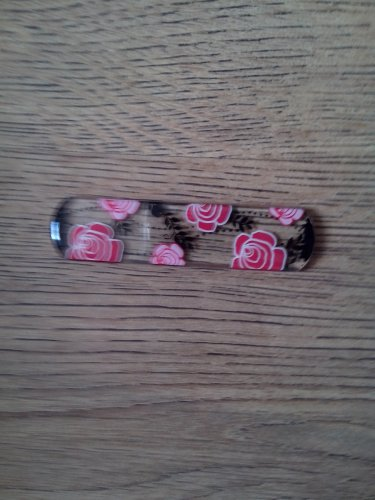 luxury flower designed GLASS nail file.
