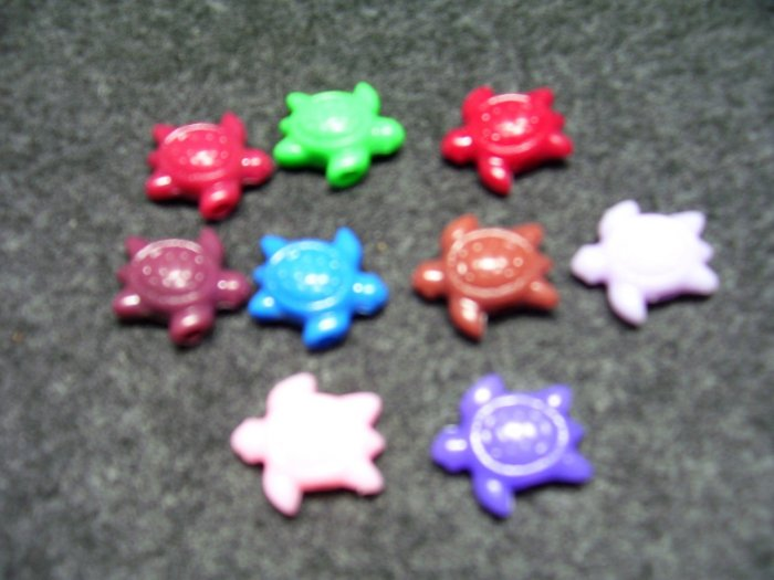 25mm Turtle Beads Pony Style Large Hole