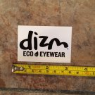 DIZM Eyewear Sticker Decal - White - Surf Sunglasses Goggles Snowboard Skate Eco 2