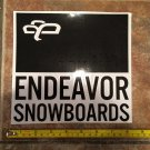 "8"" Endeavor Snowboard Sticker Decal Jacket Pants Bindings Boots Gloves Mens Ski 2"