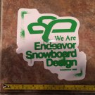 "8"" Endeavor Snowboard Sticker - Green - Decal Jacket Pants Bindings Boots Gloves Mens Ski 2"