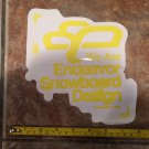 "8"" Endeavor Snowboard Sticker - Yellow - Decal Jacket Pants Bindings Boots Gloves Mens Ski 2"