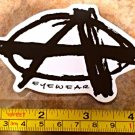 "5"" Anarchy Eyewear Sticker Decal Sunglasses Goggles Snowboard Skate Surf Ski"