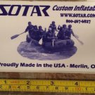 SOTAR Whitewater Sticker Decal Blue Kayak Canoe SUP Surf Whitewater Rafting