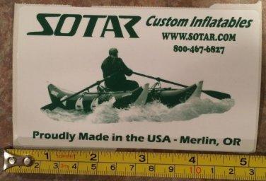 "5"" SOTAR Whitewater Sticker Decal Green Kayak Canoe SUP Surf Whitewater Rafting"