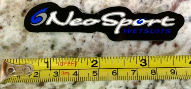 "4"" Neosport Wetsuits Sticker Decal Wakboard Surf Wet Suit SUP Kayak Neo Sport"