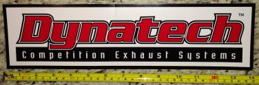 "14"" Dynatech Competition Exhaust Systems Sticker Decal Racing NHRAA Nascar"