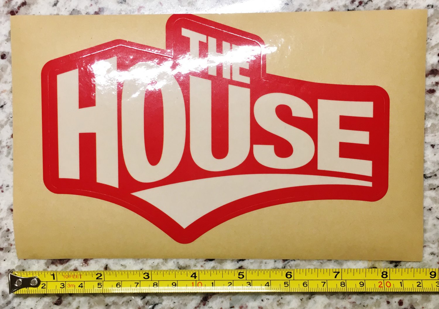 "9"" The House Board Shop Sticker Decal Red Snowboard Ski Snow 2"