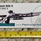 Feinwerkbau 800X Sticker Decal Tactical AR M4 Firearms Hunting Militia Target