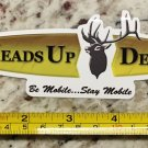 "6"" Heads Up Decoys Sticker Decal Decoy Tan Duck Goose Hunting Deer Arrow Waterfowl"