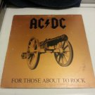 Vintage 1981 AC/DC for those about to rock. Atlantic records. Gold cover.