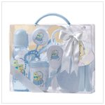 Baby Gift Set In Clear Case-Blue