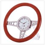 Racy steering wheel desk clock