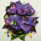 Multicolored Purple Spider Halloween Hair Bow (Item no. 00022)