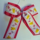 Easter Chick Cheer Hair Bow