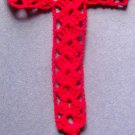 Red Cross Bookmark Crochet 100% Cotton Thread