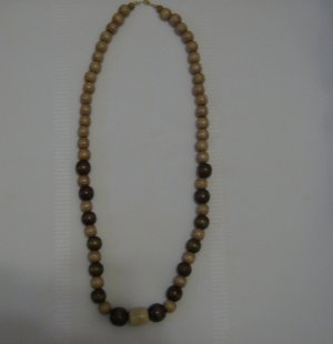 Beautiful Wooden Beaded Necklace