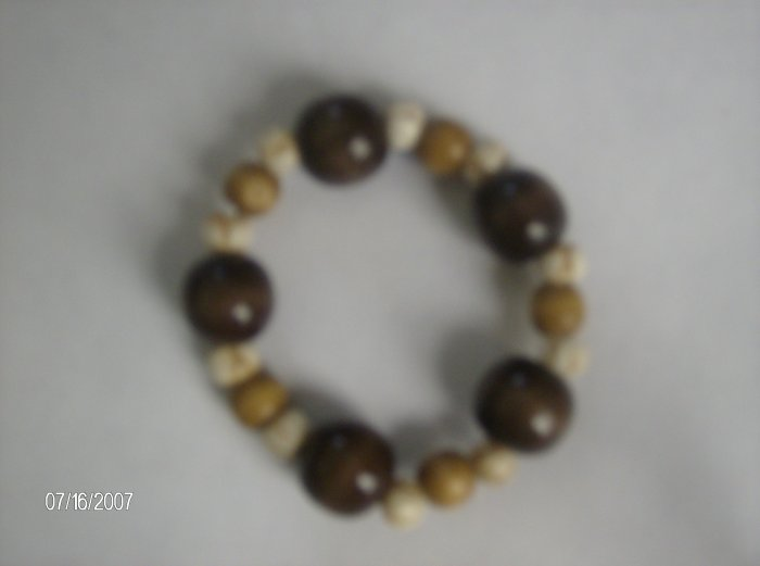 """Bubbling Sweet Sugar"" Wooden Bracelet"