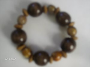 """Bubbling Brown Sugar"" Wooden Bracelet"