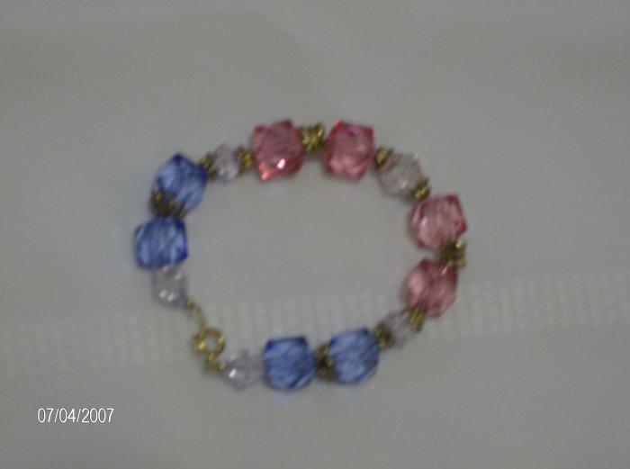 """Hard Candy"" Glass bead Bracelet"