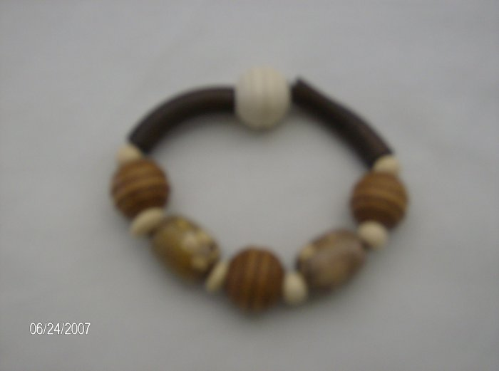 """Sweet Golden Honey"" Wooden Bracelets"