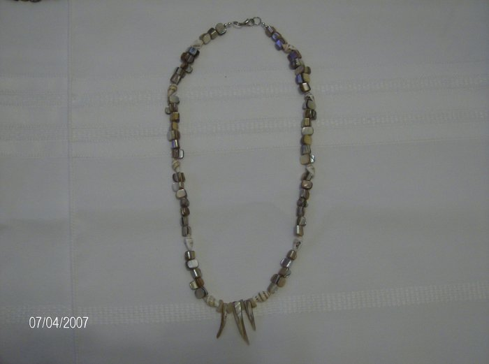 Cream Colored Glass Beaded Necklace