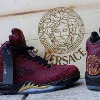 new styles 05ab5 e8f1b NikNike Air Jordan 5 3Lab5 Versace Medusa Size 9.5 Customs