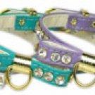 "10-14"" Crystal Bow Dog Collar"