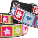 "10""-26"" Springtime Adjustable Ribbon Nylon Dog Collar"