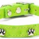 "16-20"" Fashion Paw Accent Faux Ostrich Dog Collar FREE Charm"
