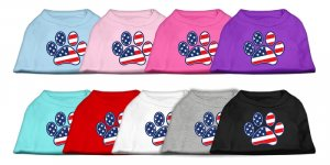 Patriotic Paw Dog Shirt