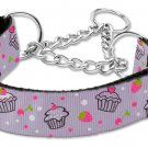 "Med 10"" - 18"" Lilac Cupcakes Adjustable Nylon Safety Dog Collar with FREE SHIPPING"