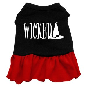 XS, SM & Med. Red Bottom WICKED Halloween Dog Dress
