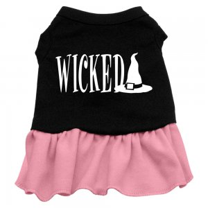 2XL & 3XL Pink Bottom WICKED Halloween Dog Dress