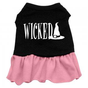 Lg, XL Pink Bottom WICKED Halloween Dog Dress