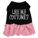 Lg, XL Pink Bottom LIKE MY COSTUME? Halloween Dog Dress