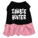 XS, SM & Med. Pink Bottom ZOMBIE HUNTER Halloween Dog Dress
