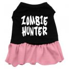 2XL & 3XL Pink Bottom ZOMBIE HUNTER Halloween Dog Dress