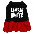XS, SM & Med. Red Bottom ZOMBIE HUNTER Halloween Dog Dress
