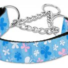 """Medium 10"""" - 18"""" Blue Adjustable Nylon Butterfly Safety Dog Collar with FREE SHIPPING"""