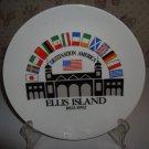 "VINTAGE 8"" ELLIS ISLAND 1892-1992 SOUVENIR CERAMIC PLATE"