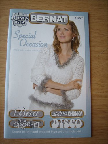 BERNAT SPECIAL OCCASION DESIGNS TO KNIT & CROCHET LUSTER SHEEN PATTERN LEAFLET