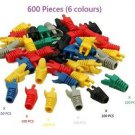 600 Pieces (6 colours)  RJ45 CAT5 CAT5E CAT6 Modular End Cap Boot - 100% New!