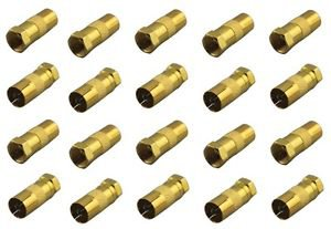 20 Pieces of Gold Plated TV Antenna Converter Adapter - 100% New!