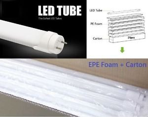 LOT of 25 Pieces LED T8 Tube 18W 1900lm 4000K AC100-277V Single End Power Input