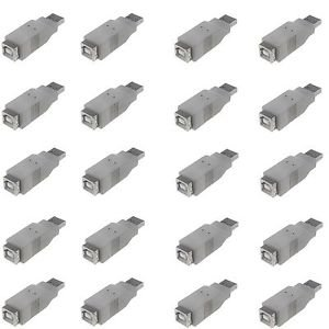 20 Pieces of USB A Male to USB B Female Adapter 480mbps  - 100% New!